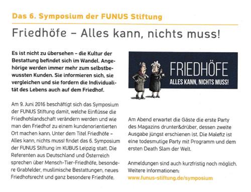 Das 6. Symposium der FUNUS Stiftung